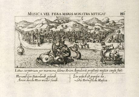 Antike Landkarten, Meissner, Indien, Kozhikode, Kalikut, 1638: Calechut