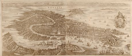 Antique Maps, Merian, Italy, Venice, 1641: Venetia