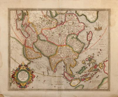 Antique Maps, Mercator, Asian Continent, 1630: Asia ex Magna Orbis Terre Descriptione Gerardi Mercatoris Desumpta, Studio et Industria G.M. Iunioris