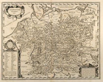 Antique Maps, Blaeu, Germany, 1630: Germaniae Veteris typus