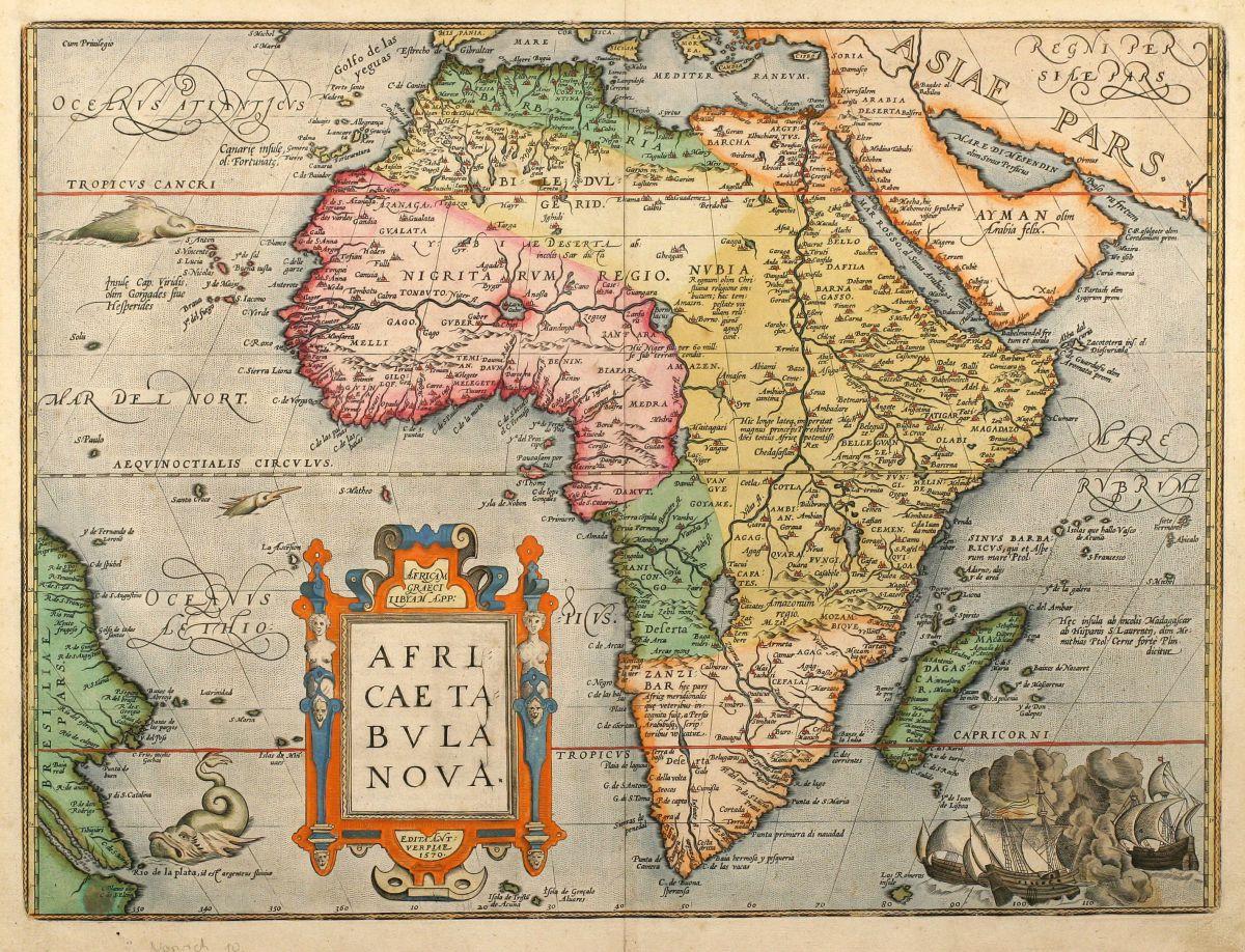 Africae Tabula Nova Ortelius Africa Continent 1603