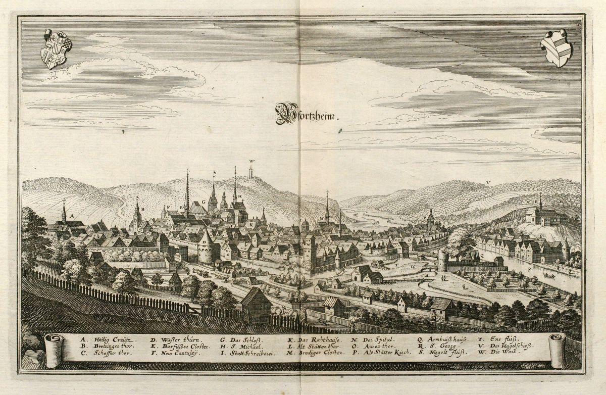 Germany - Merian, Matthäus - Pfortzheim