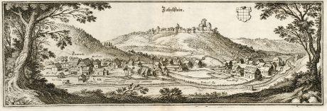 Antike Landkarten, Merian, Deutschland, Baden-Württemberg, Zavelstein, Bad Teinach: Zabelstein