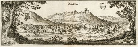 Antique Maps, Merian, Germany, Baden-Wurttemberg, Zavelstein, Bad Teinach: Zabelstein