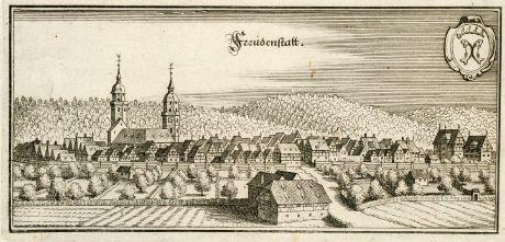Antike Landkarten, Merian, Deutschland, Baden-Württemberg, Freudenstadt, 1643: Freudenstatt