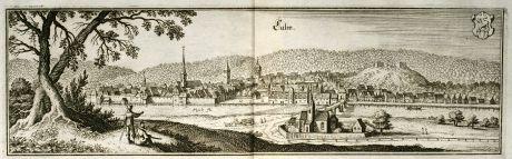 Antike Landkarten, Merian, Deutschland, Baden-Württemberg, Calw, 1643: Calw