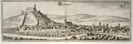 Antique Maps, Merian, Germany, Baden-Wurttemberg, Vaihingen an der Enz: Vaihingen
