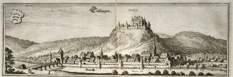Antike Landkarten, Merian, Deutschland, Baden-Württemberg, Tuttlingen, 1643: Tutlingen