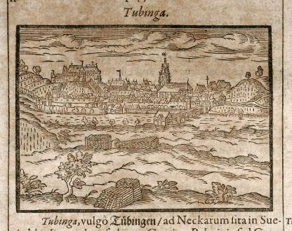 Antike Landkarten, Saur, Deutschland, Baden-Württemberg, Tübingen, 1608: Tubinga