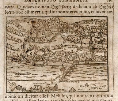 Antike Landkarten, Saur, Deutschland, Heidelberg / Nürnberg, 1608: Heydelberg / Nurnberg