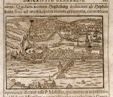 Antique Maps, Saur, Germany, Heidelberg / Nuremberg, 1608: Heydelberg / Nurnberg