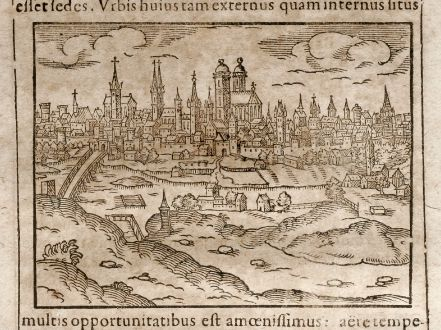 Antique Maps, Saur, Germany, Bavaria, Munich, 1608: Monachium