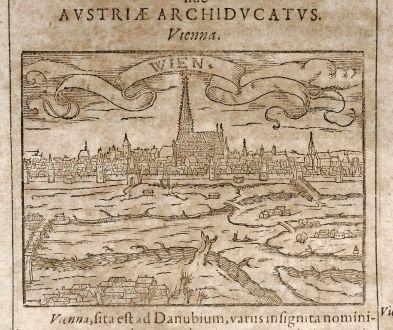 Antike Landkarten, Saur, Österreich - Ungarn, Wien, 1608: Vienna