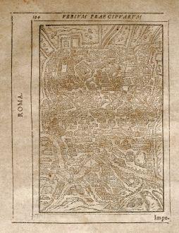Antike Landkarten, Saur, Italien, Rom, 1608: Roma