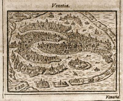 Antique Maps, Saur, Italy, Venice / Venezia, 1608: Venetia