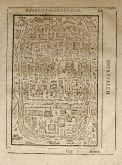 Antike Holzschnitt-Ansicht von Jerusalem. Gedruckt bei W. Richter im Jahre 1608 in Frankfurt.