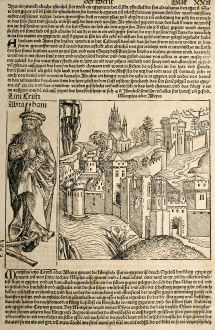 Antike Landkarten, Schedel, Ägypten, Kairo, 1493: Memphis