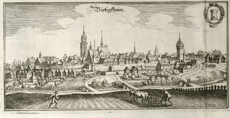 Antique Maps, Merian, Germany, Baden-Wurttemberg, Bietigheim-Bissingen: Bietigheim
