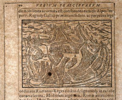 Antike Landkarten, Saur, Deutschland, Nordrhein-Westfalen, Aachen, 1608: [Aquisgranum]