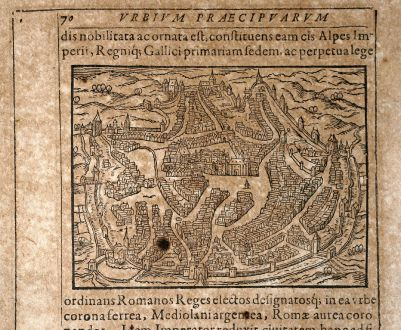 Antique Maps, Saur, Germany, North Rhine-Westphalia, Aachen, 1608: [Aquisgranum]