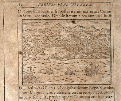 Antike Landkarten, Saur, Italien, Genua, 1608: [Genua]