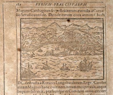 Antique Maps, Saur, Italy, Genoa / Genova, 1608: [Genua]