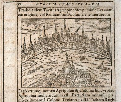 Antike Landkarten, Saur, Deutschland, Nordrhein-Westfalen, Köln, 1608: [Colonia Agrippina]