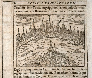Antique Maps, Saur, Germany, North Rhine-Westphalia, Cologne, 1608: [Colonia Agrippina]