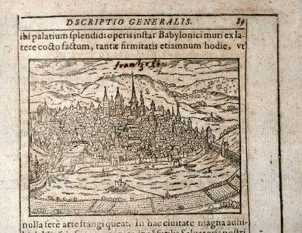 Antike Landkarten, Saur, Deutschland, Rheinland-Pfalz, Trier, 1608: [Treuiri]