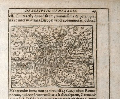 Antike Landkarten, Saur, Belgien, Gent, 1608: [Gendauum]