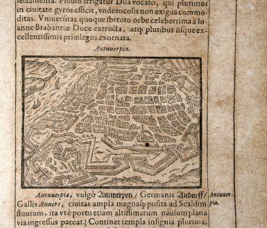 Antique Maps, Saur, Belgium, Antwerp / Antwerpen, 1608: Antuuerpia