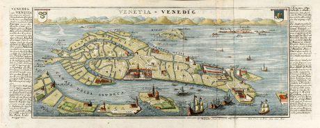 Antique Maps, Bodenehr, Italy, Venice, Venetia, 1720: Venetia - Venedig