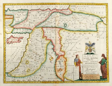 A New Map of The Eastern Parts of Asia Minor Wells Middle East