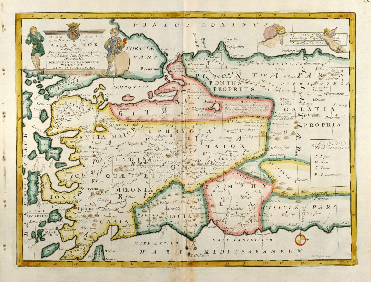A New Map of The Western Parts of Asia Minor Wells Turkey – Map of Asian Islands