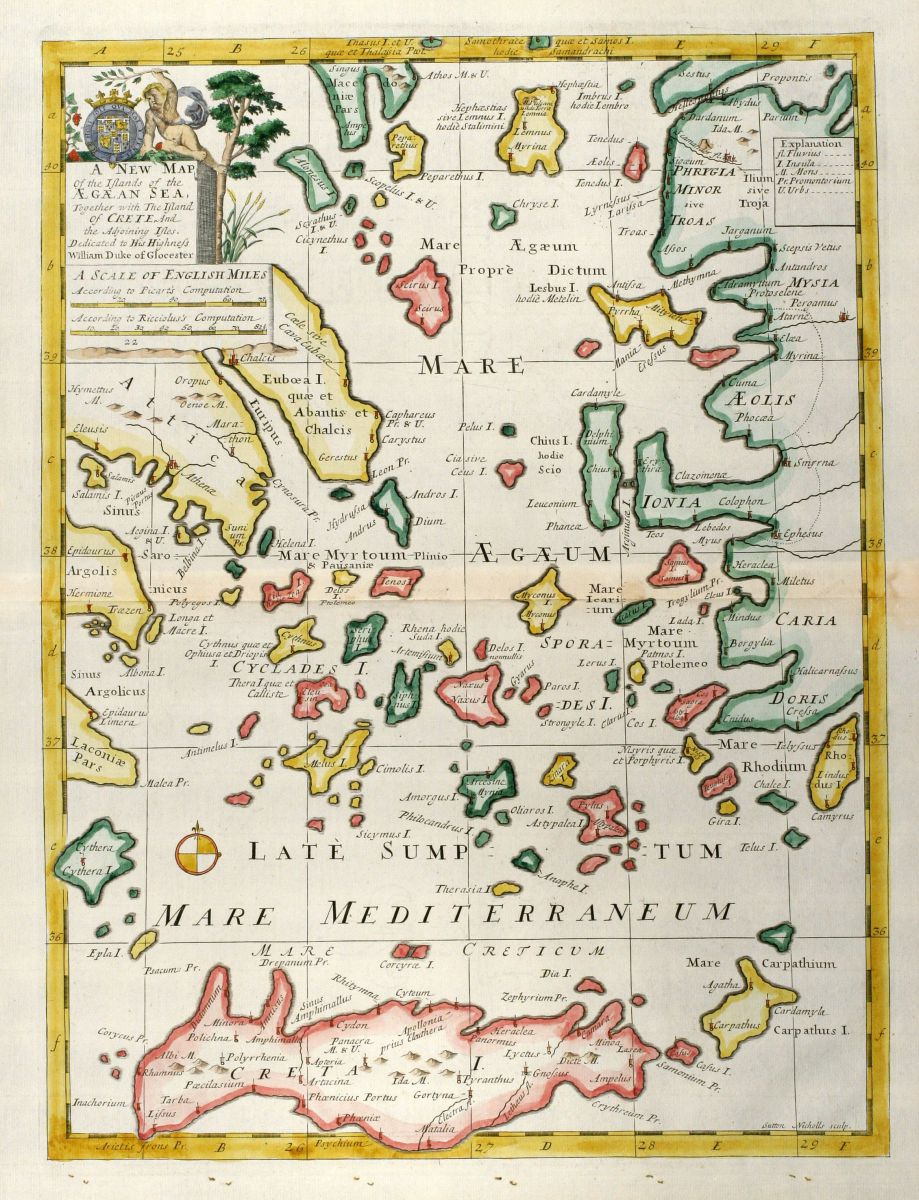 A New Map of the Islands of the Aegaean Sea together with the
