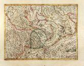 Altkolorierte Landkarte von Argau. Gedruckt bei Gerard Mercator im Jahre 1628 in Amsterdam.