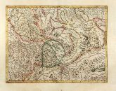 Old coloured map of Argau. Printed in Amsterdam by Gerard Mercator in 1628.