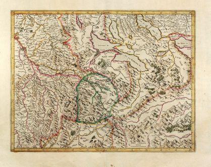 Antike Landkarten, Mercator, Schweiz, Argau, 1628: [Argow]