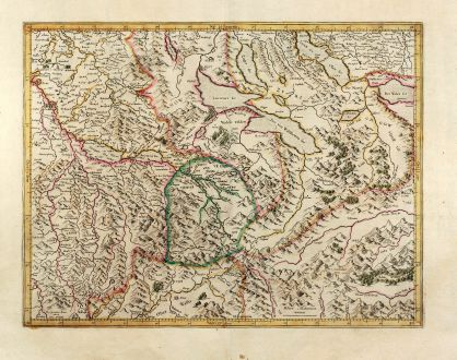Antique Maps, Mercator, Switzerland, Argau, 1628: [Argow]