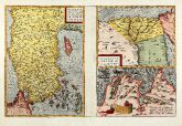 Coloured map of Tunis, Egypt, Cyprus, Turkey. Printed in Antwerp in the year 1570.