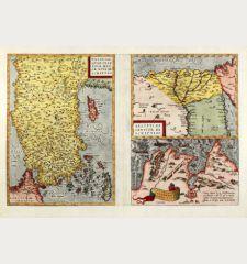Natoliae, quae olim Asia Minor Nova Descriptio - Aegypti Recentior Descriptio - Carthaginis Celeberrimi Sinus Typus