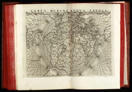 Atlanten, Ruscelli, Ptolemaeus Atlas, 1564: La Geografia di Claudio Tolomeo Alessandrino, Nuovamente tradotta di Greco in Italiano da Ieronimo Ruscelli.