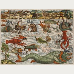 Antique Maps with Sea Monsters