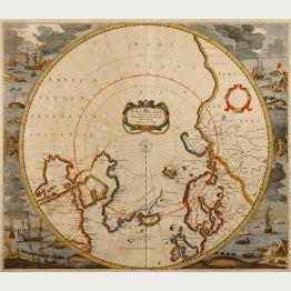 Antike Karten des Nord- und Südpols