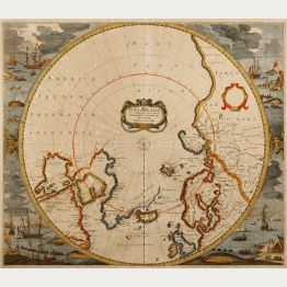 Antique Maps of the North Pole and South Pole
